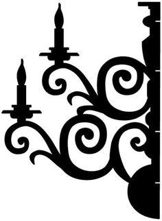dimensional silhouette chandelier