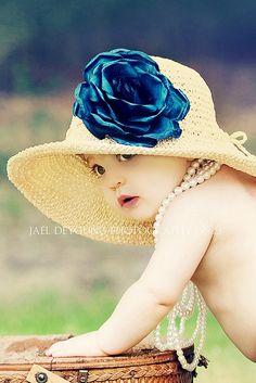 dress baby & little girl dress-up hats, pearls & Newborn baby