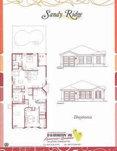 Sandy Ridge Daytona Floor Plan in Orlando FL