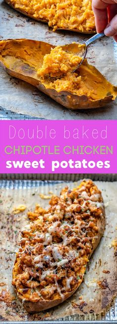 These Double Baked Chipotle Chicken Sweet Potatoes are Crowd Pleasers! | Clean Food Crush