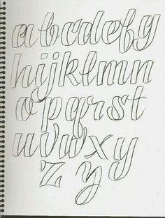 cursive alphabet in grafitti tagging hand writing Hand Lettering Alphabet, Alphabet Design, Doodle Lettering, Creative Lettering, Typography Letters, Brush Lettering, Handwriting Fonts Alphabet, Bullet Journal Fonts Hand Lettering, Cute Fonts Alphabet
