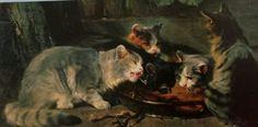Etenstijd (detail) ca. 1870 Julius Adam  1826-1874