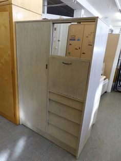 Wardrobe With Mirror & Drawers  -------------------------------------------------- H-151cm W-102cm D-47cm Was £65 Now £52 (PC148)