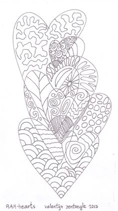 zentangle hearts 3