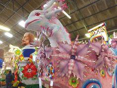 Floats in the Rex Den.  La Belle Esplanade Bed and Breakfast: Mardi Gras Preview (Part I)