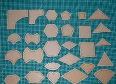 free shipping 1 set 54PCS mixed quilt templates acrylic diy tools for patchwork quilter