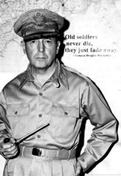 General Douglas MacArthur Quote Archival Photo Poster Print