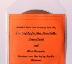 Fire Safety for Fire Wardens, Marshals. Health and Safety Training Resources. With printable certificate and printable booklet. Suitable for initial and refresher training.