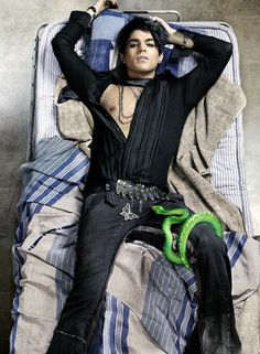 adam lambert - i've only wanted to trade places with a snake just this one time...