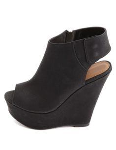 Peep Toe Slingback Platform Wedges: Charlotte Russe