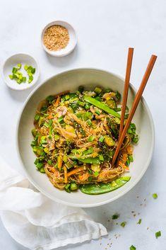 Rice noodles with vegetables - Philosophy of Taste - Dinner - Vegeterian/Vegan - Makaron Rice Noodles, Wok, Japchae, Ramen, Philosophy, Pasta, Vegan, Dinner, Vegetables