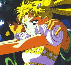 darien and serena in sailor moon movie r