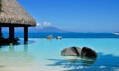intercontinental hotel tahiti infinity pool - Google Search