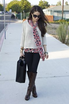bright blouse and/or scarf