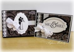 Matching Card and Box Set, Mr. & Mrs. Wedding Card by Paper Melody's