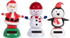 #Solar Powered Dancing Solar Christmas Santa, Snowman, and Penguin Set (Set of 3) $18.95