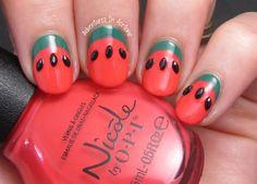 Simple Ruffian Watermelon Nail Art!