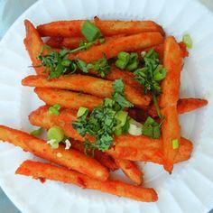Honey-Chili Potatoes ... healthier than chili cheese fries