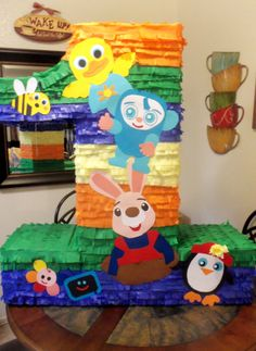 BabyFirst TV Birthday. All I have to do is buy a number 2 piñata and add the characters!