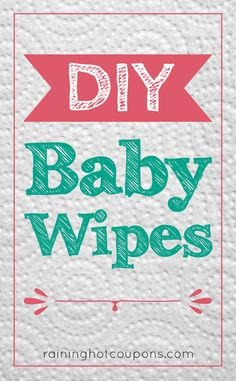 DIY Baby Wipes *Get more FRUGAL Articles, tips and tricks from Raining Hot Coupons here* REPIN IT HERE DIY Baby Wipes Baby wipes are great for there obviously use, keeping our babies clean and fresh! However, buying baby wipes on a regular basis isn't always easy as it can really affect a weekly budget and …