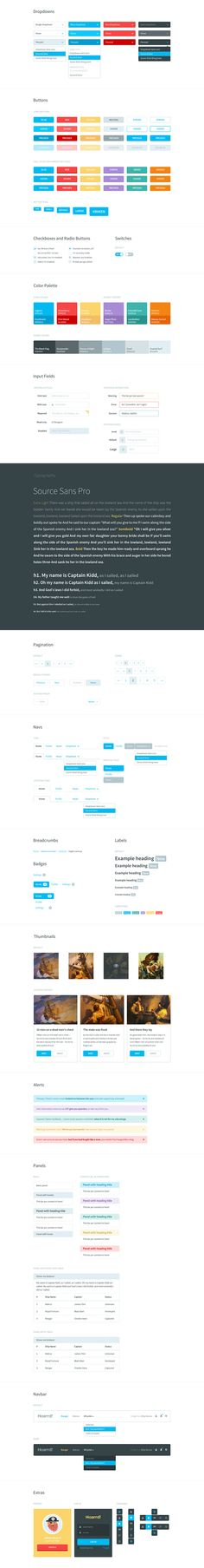A flat style UI kit. All of the elements included are part of Twitter Bootstrap 3.