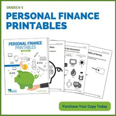 NEW!! K-5 #teachers: check out Personal Finance #Printables to complement in-class lessons: http://councilforeconed.org/printables  #edchat #ntchat #finlit