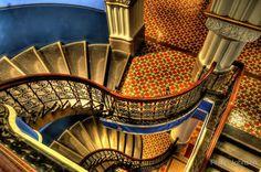 Vertigo Staircase at the QVB Building in Australia