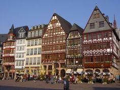 Frankfurt, Germany. Traveling throughout Bavaria, one can never grow tired of this traditional German architecture...