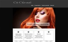 Hair studio website created by Look for it