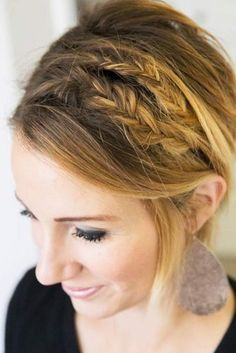 braided-hairstyles-for-short-hair-double-fishtail-headband.jpg (334×500)