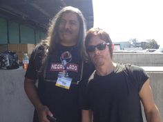with Norman Reedus at L.A. Comikaze, 2012
