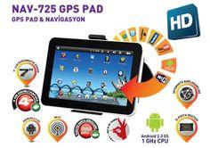 Hem android tablet hem de navigasyon cihazı : GoldMaster NAV-725