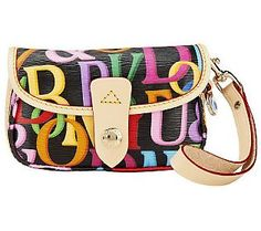 This coated cotton wristlet brings retro flavor--not to mention a burst of color--to any look. Retro Print, Qvc, Dooney Bourke, Handbags, Coat, Gifts, Totes, Sewing Coat, Presents
