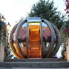 Stunning! i would love to see inside this Farmer's Cottage Deluxe Summer House Sphere