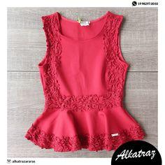 Apaixonada pelas lindas Blusas Peplum #limone #alkatraz #modalagem #vocêsemprelinda