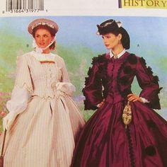 19th Century Dress Pattern Uncut Butterick 6694 Size 18 by Revvie1, $20.00