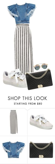 """Untitled #400"" by xjustinv on Polyvore featuring Balenciaga, Puma, Philosophy di Lorenzo Serafini and Chanel"