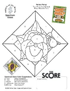 Free Stained Glass Pattern 2212-Perfect Pansy