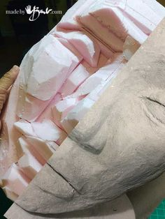Step by step instructions with pictures to sculpt a huge concrete face mask, Part 2 will include instructions to make the mold and create many!
