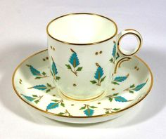 Minton Enamelled Leaves Cup & Saucer