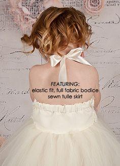 Pink White Tutu Dress Flower Girl por TutuGirl en Etsy