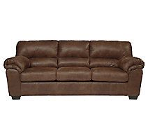 If you love the cool look of leather but long for the warm feel of fabric, you'll find the Bladen sofa fits the bill beautifully. Rest assured, the textural, multi-tonal upholstery is rich with character and interest—while plush, pillowy cushions merge comfort and support with a high-style design.