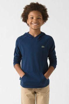 #Lacoste Boy's Long Sleeve #Jersey Hoodie T-shirt