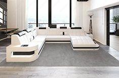 Design Living room set Wave XL with White LED?Black
