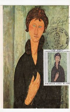 Timbre : 1980 A. MODIGLIANI _ femme aux yeux bleus | WikiTimbres