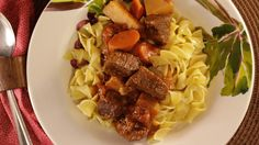 Enjoy the comforts of classic home cooking with this easy recipe for Old Fashioned German Goulash. Made with beef, carrots, potatoes and all of your favorite seasonings, there is no way you can go wrong with a great goulash recipe like this one. It i