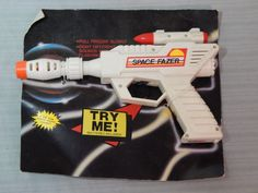 Vintage Space Fazer Toy Space Gun New on Card #Unbranded