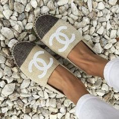 neutral chanel slip on- Blush and nudes outfits and accessories http://www.justtrendygirls.com/blush-and-nudes-outfits-and-accessories/
