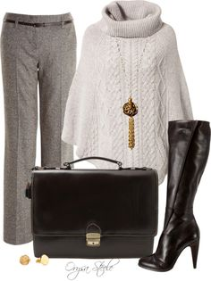 """Chocolate Leather"" by orysa on Polyvore"