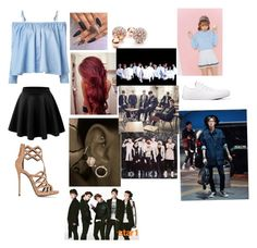 """My dream outfit tonight and hanging out with exo,bts,got7, and shinee are going on a date with Chanyeol"" by nejlahusetovic61 ❤ liked on Polyvore featuring Sandy Liang, Giuseppe Zanotti, GUESS, Glen Glam and Converse"
